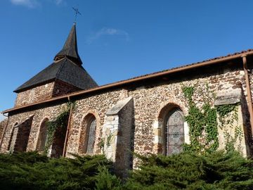 Eglise Saint Jean Baptiste Mézos - Mimizan - Pierre de garluche - Patrimoine