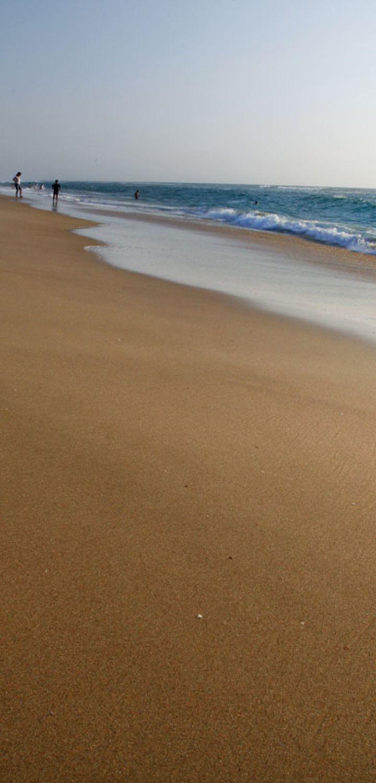 Webcam plage Sud de Mimizan avec soleil et l'océan à marée basse