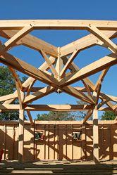 De nombreuses maisons en bois de Pin à Mimizan à Pontenx les Forges