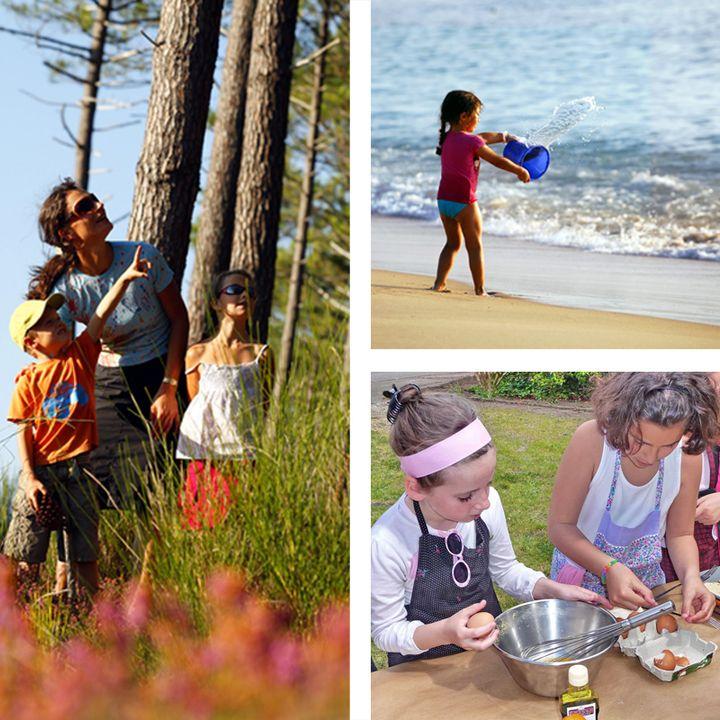 Activités en famille à Mimizan - balade, jeu de piste - ateliers cuisine - surf Mimizan