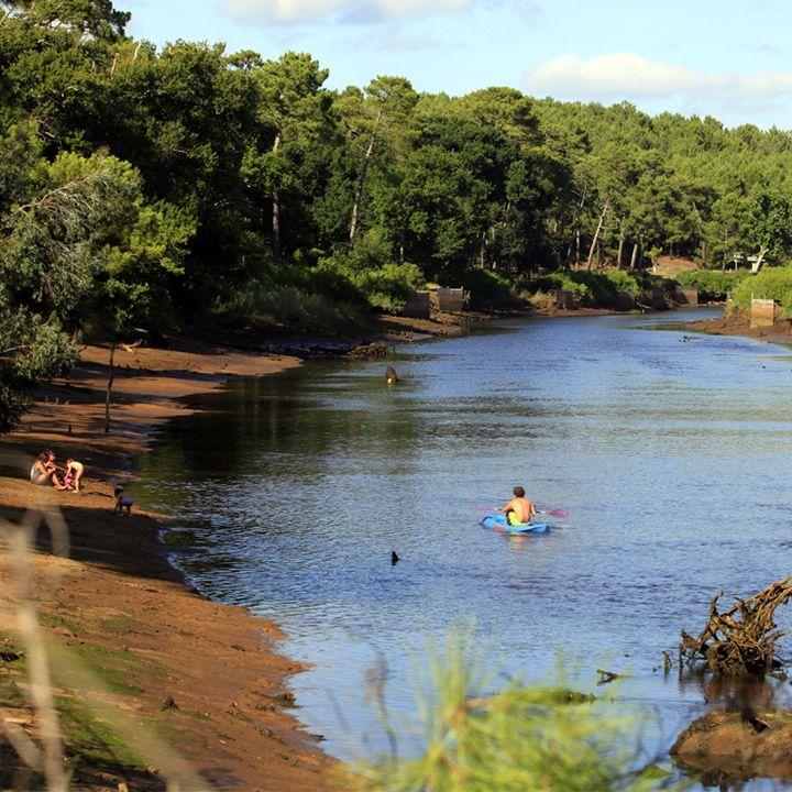 Le Courant de Mimizan Plage - halte nautique - stand up paddle - pêche
