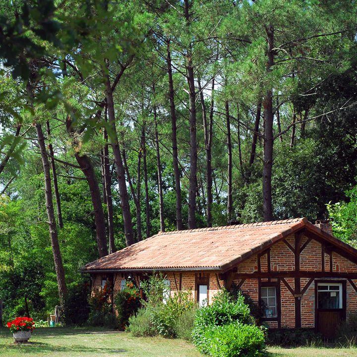 Maison traditionnelle landaise à Pontenx-Les-Forges proche de Mimizan