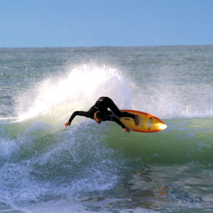 Surf à Mimizan - champions du monde Nicolas Capdeville - Vincent Duvignac