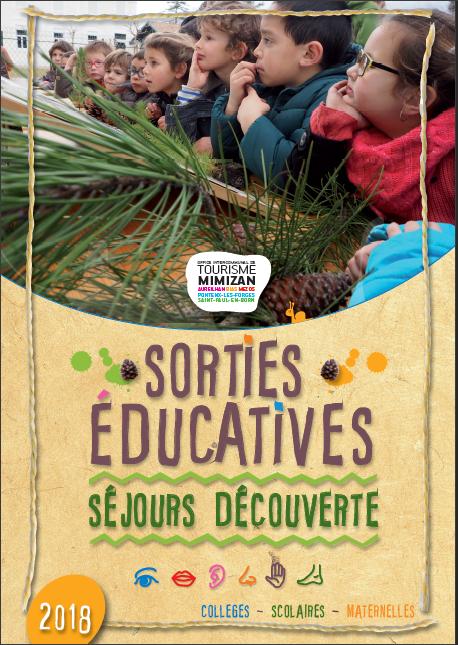 brochure scolaire Mimizan - activités - visites - découverte - nature - forêt - lac - océan - cordon dunaire - école - élèves - classe - scolaire - éducatif - séjour pédagogique