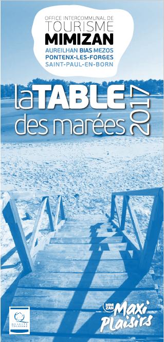table des marées des plages de Mimizan - océan - basse - haute - coefficient - horaires