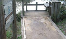 Ponton de pêche de l'étang d'Aureilhan à Mimizan à MIMIZAN (40)