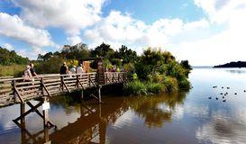 A Mimizan, sentier de la Promenade Fleurie à MIMIZAN