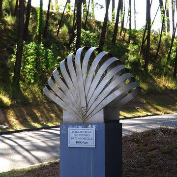 A Mimizan, tronçon de la voie littorale St Jacques de Compostelle à MIMIZAN