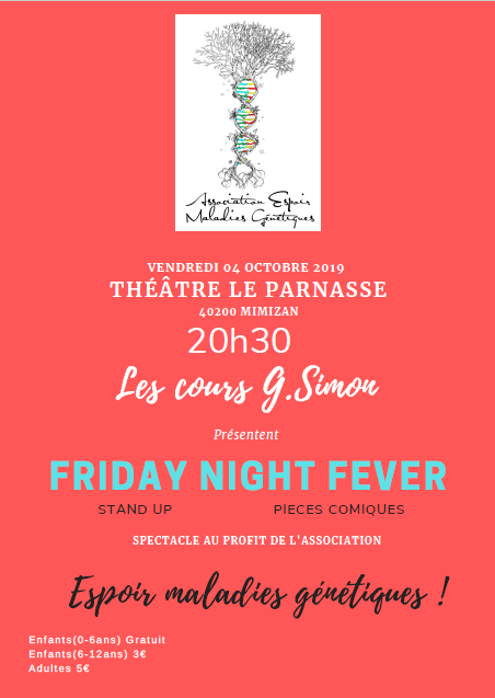 "Spectacle  de Stand Up et de pièces comiques"" Friday Night Fever"""