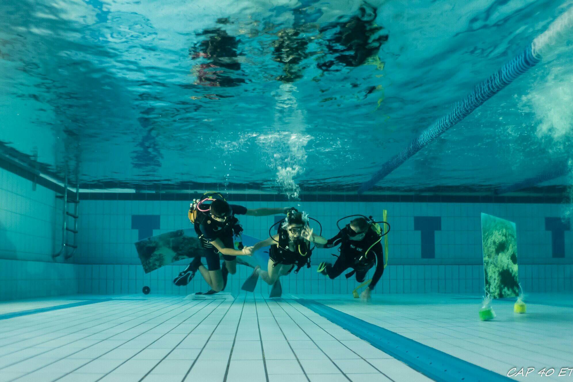 Baptême de plongée à la piscine intercommunale