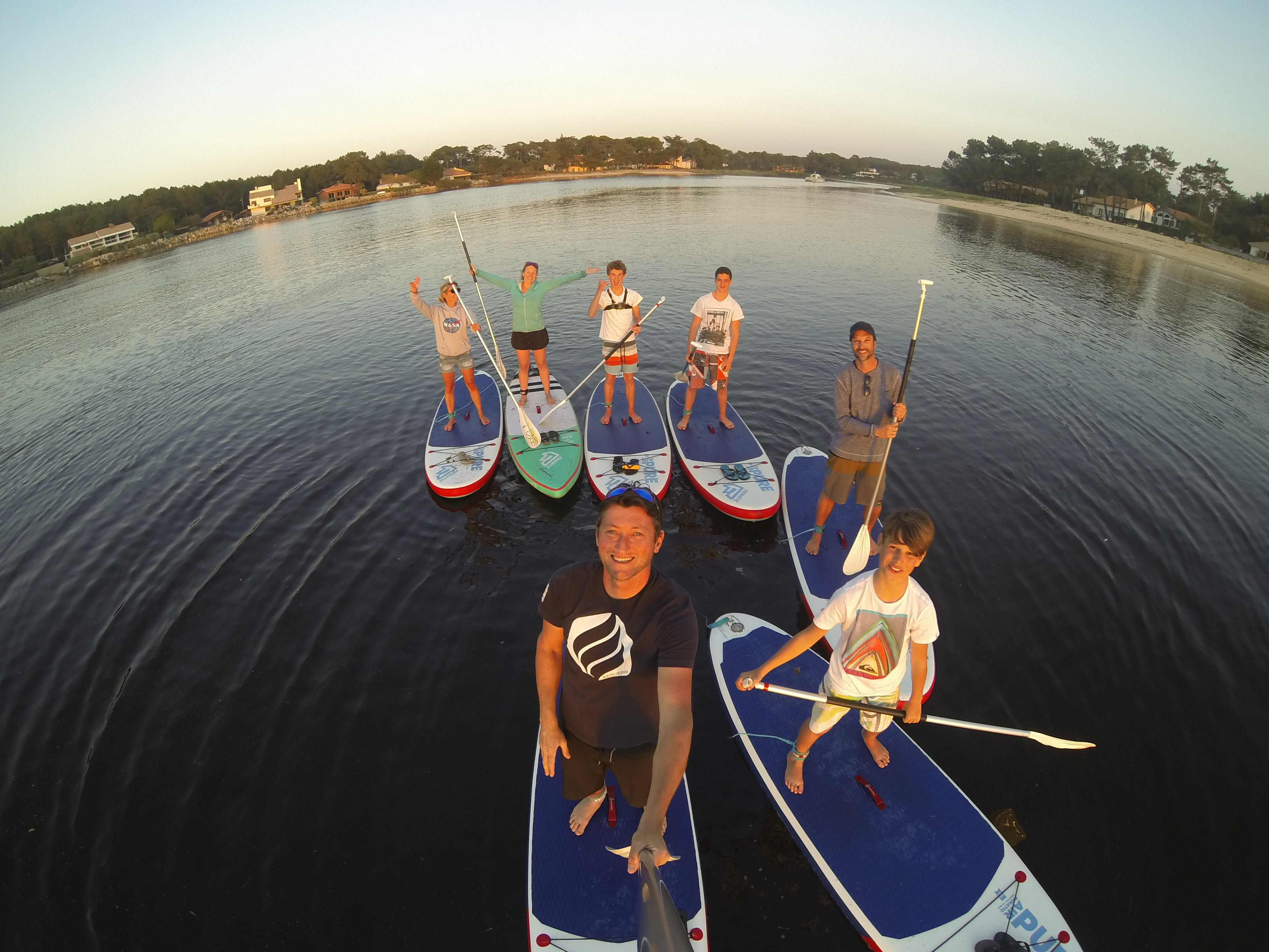 Stand Up Paddle sur le courant
