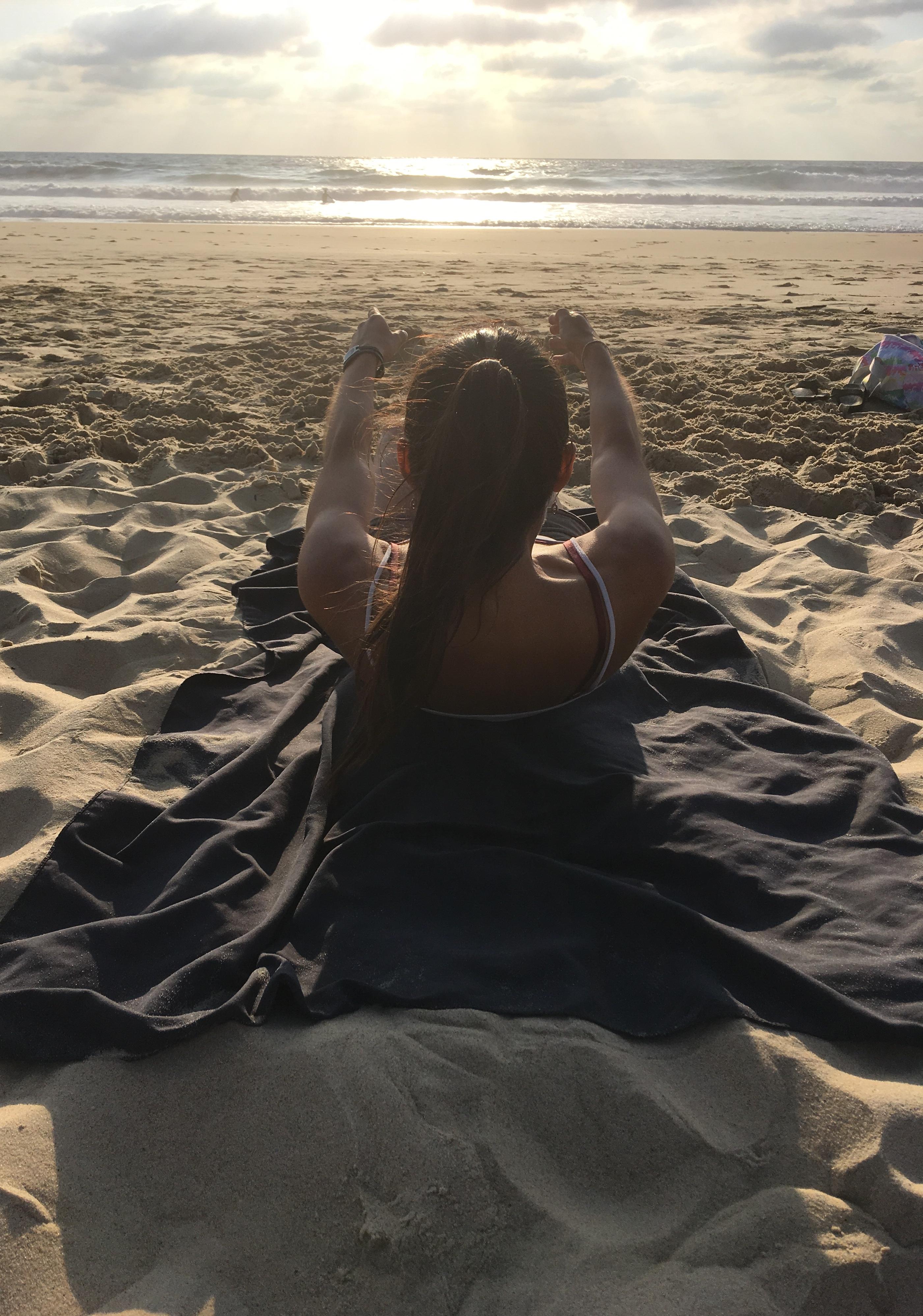 Pilates sur la plage