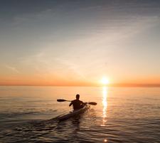 Rencontre du lever de soleil en canoe + casse-croute Landais