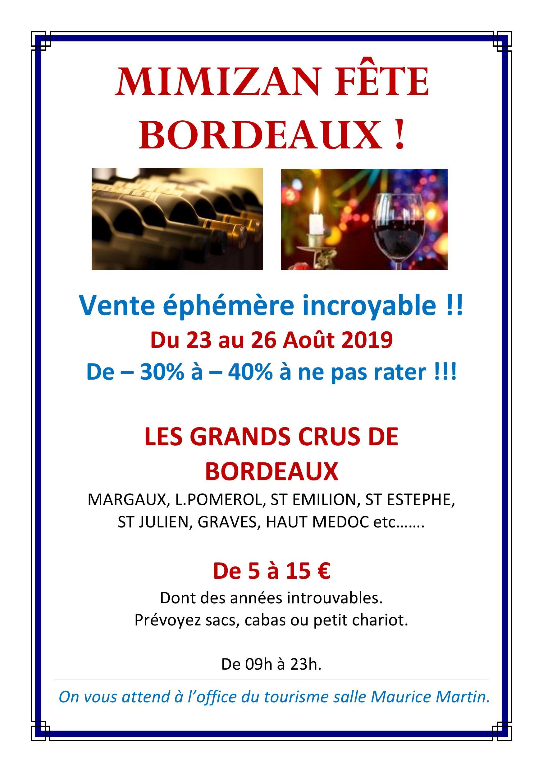 Mimizan fête Bordeaux