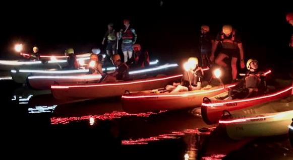 Traversée du lac au flambeau en canoe