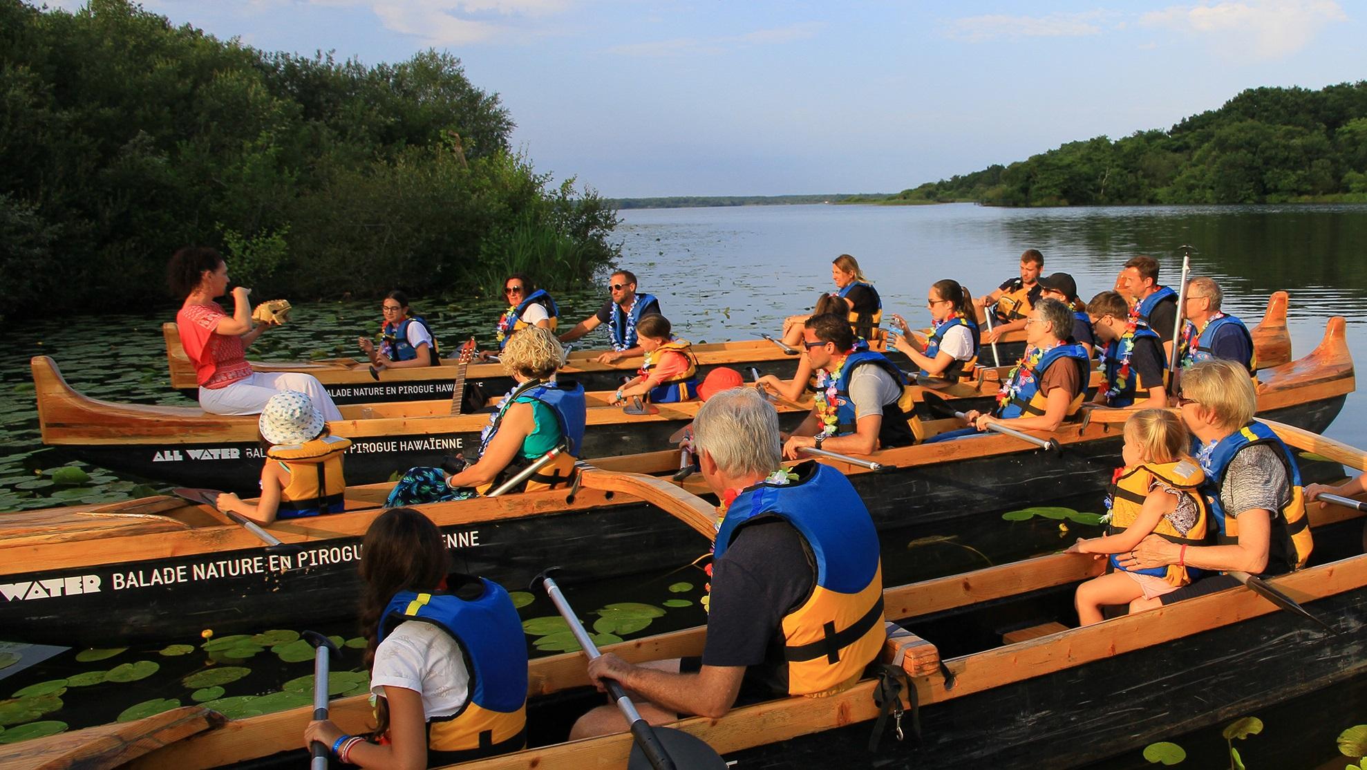 Inauguration du sentier du tour du lac : Balade nature  sur le lac en pirogue traditionnelle