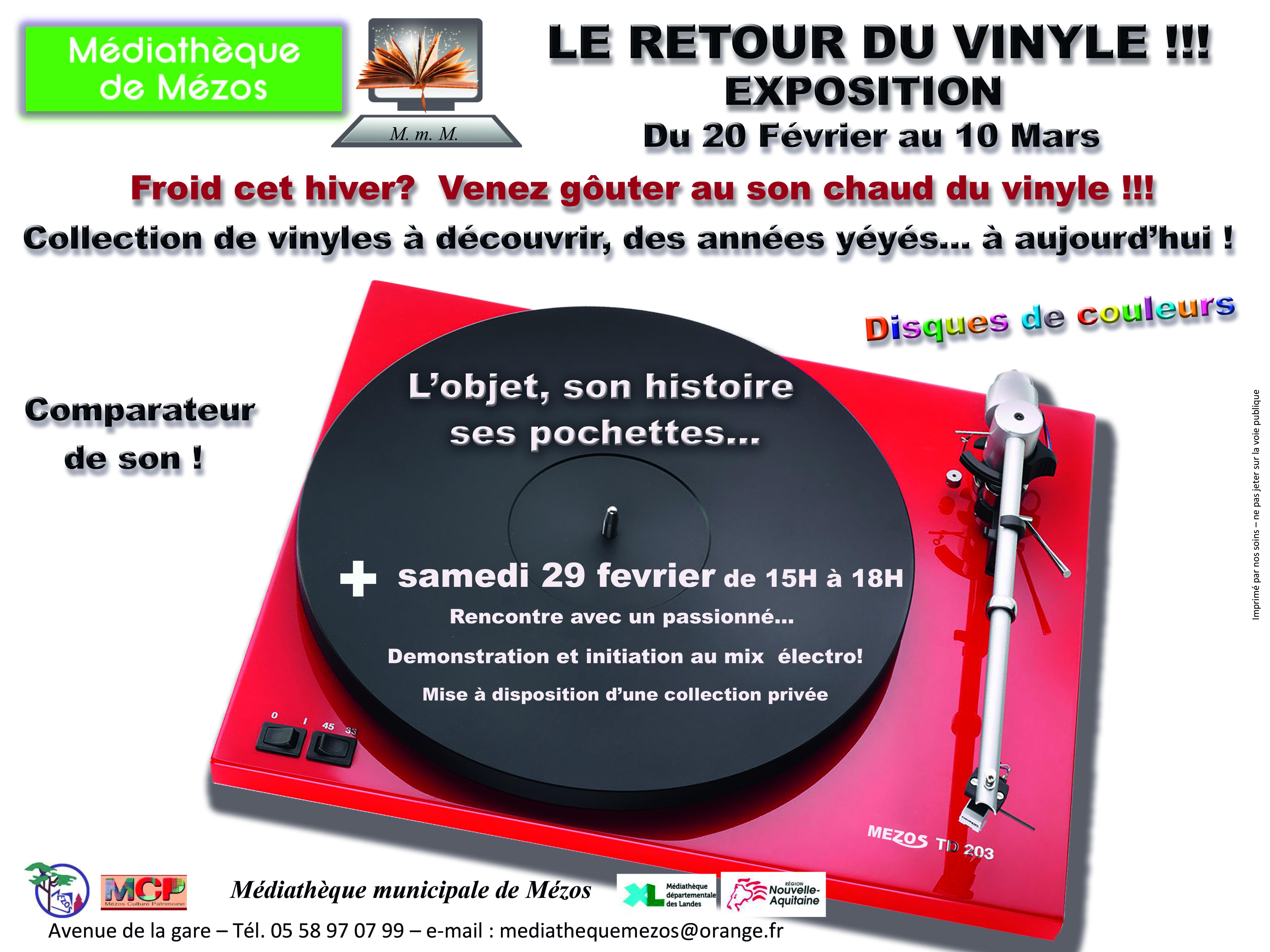 Exposition : Le retour du Vinyle !!!