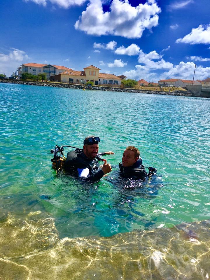 Baptême de plongée sous marine au Courant